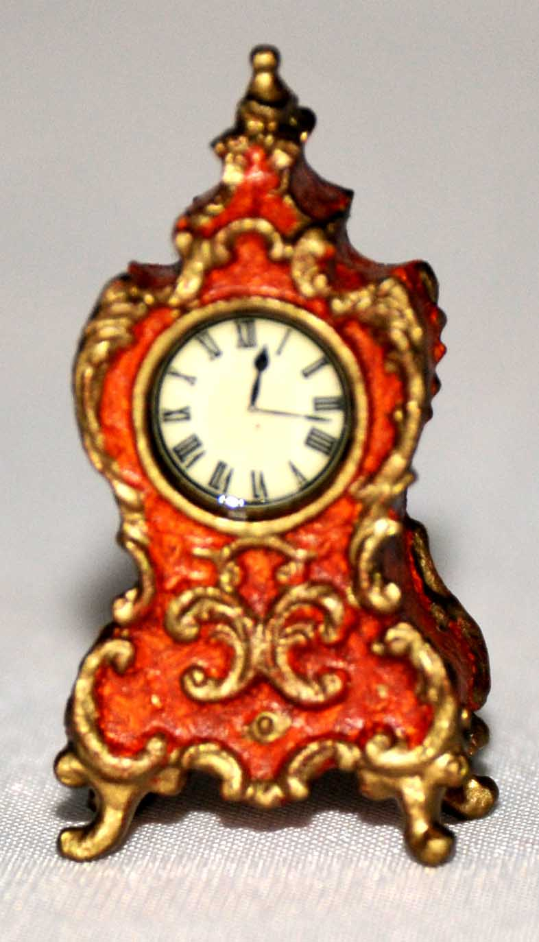 French gilded clock
